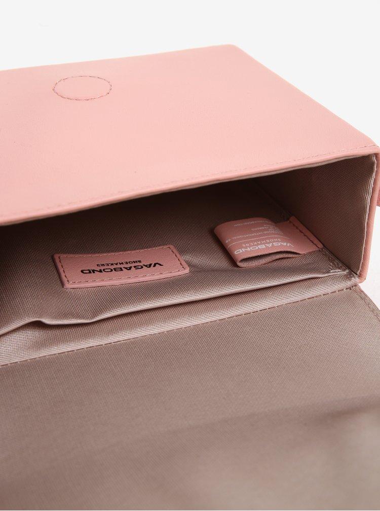 Růžová kožená crossbody kabelka Vagabond Waterloo