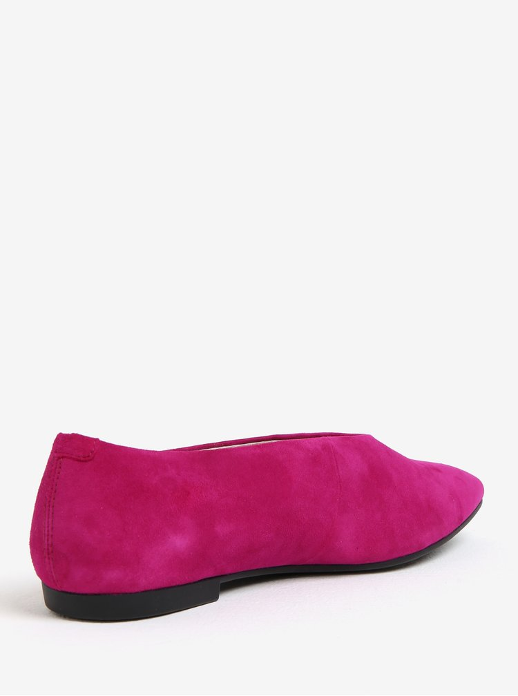 Růžové semišové baleríny Vagabond Katlin