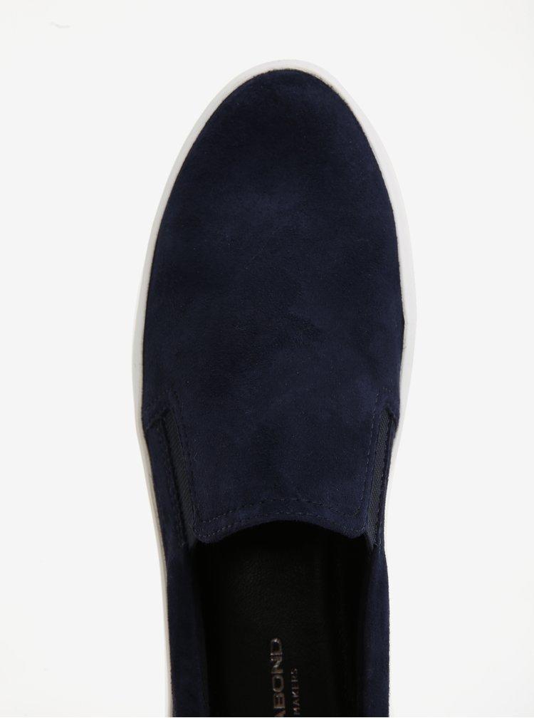 Tmavě modré dámské semišové slip on Vagabond Camille