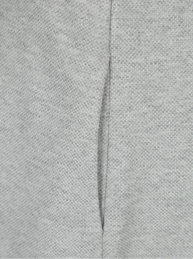 Světle šedé žíhané šaty s krátkým rukávem GANT