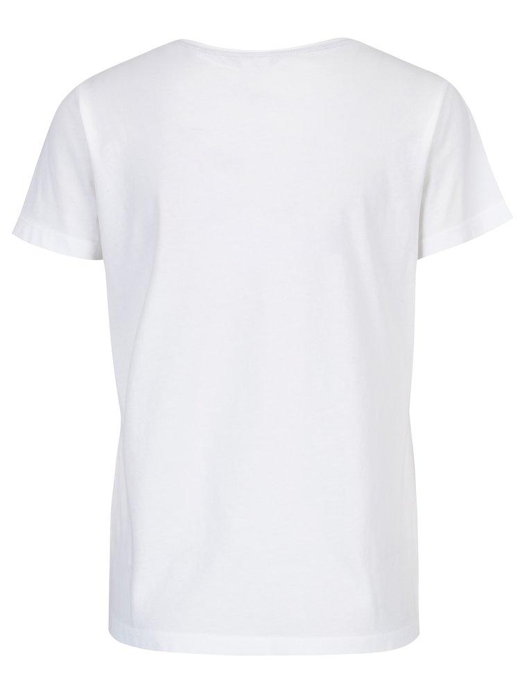Bílé dámské tričko s nápisem GANT