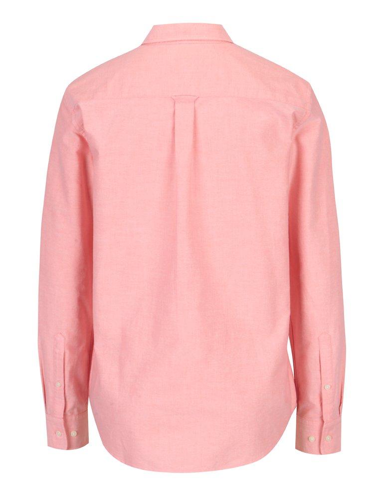 Světle růžová dámská košile s náprsní kapsou GANT