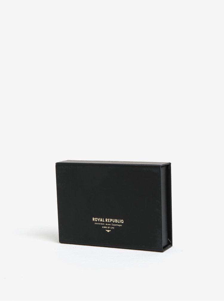 Svetlohnedé kožené puzdro na karty Royal RepubliQ Alliance
