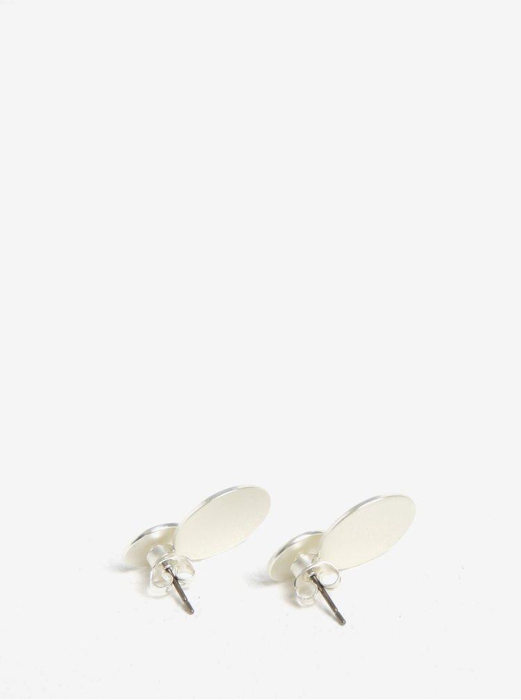 Kulaté náušnice ve stříbrné barvě Pieces Bree