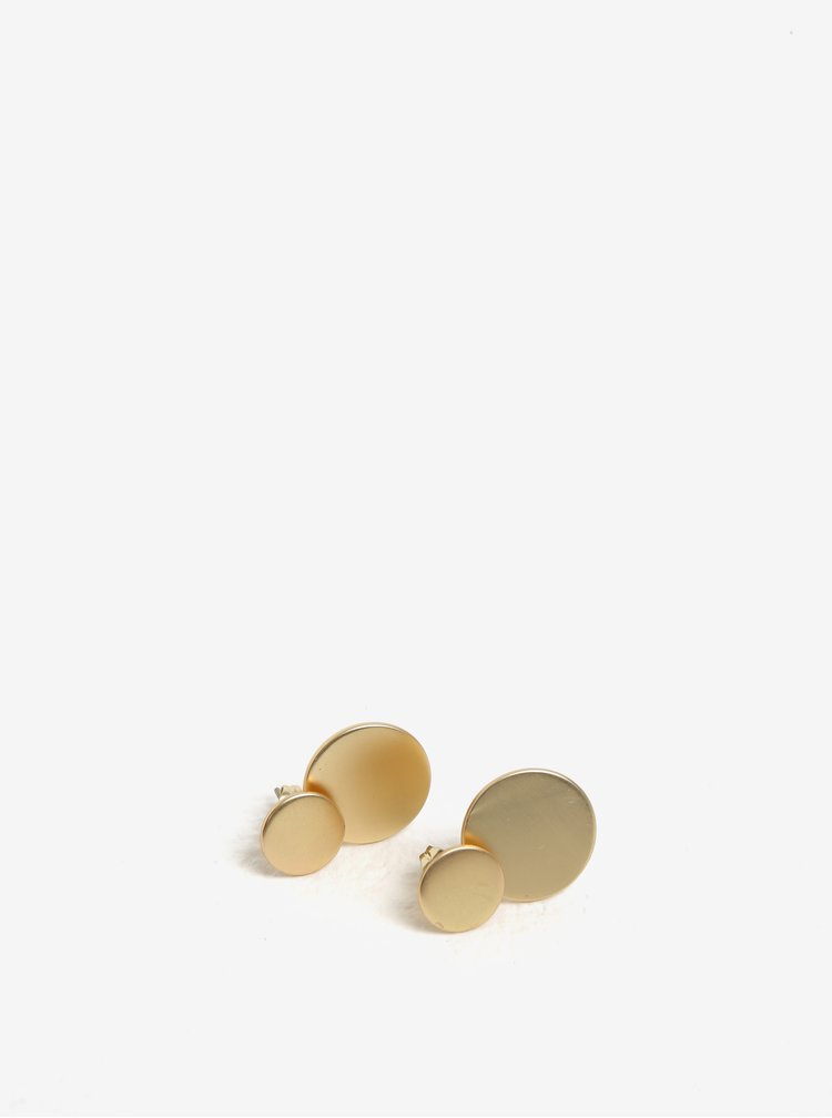 Cercei cu discuri aurii detasabile - Pieces Bree
