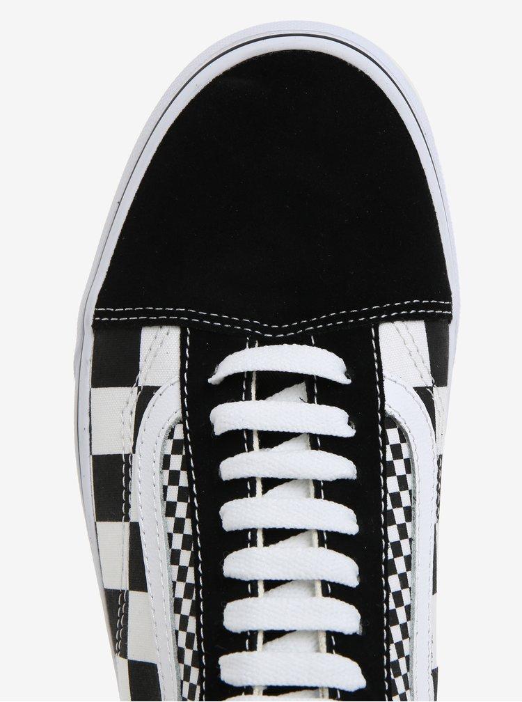 Černo-bílé vzorované tenisky se semišovou špičkou VANS Old Skool