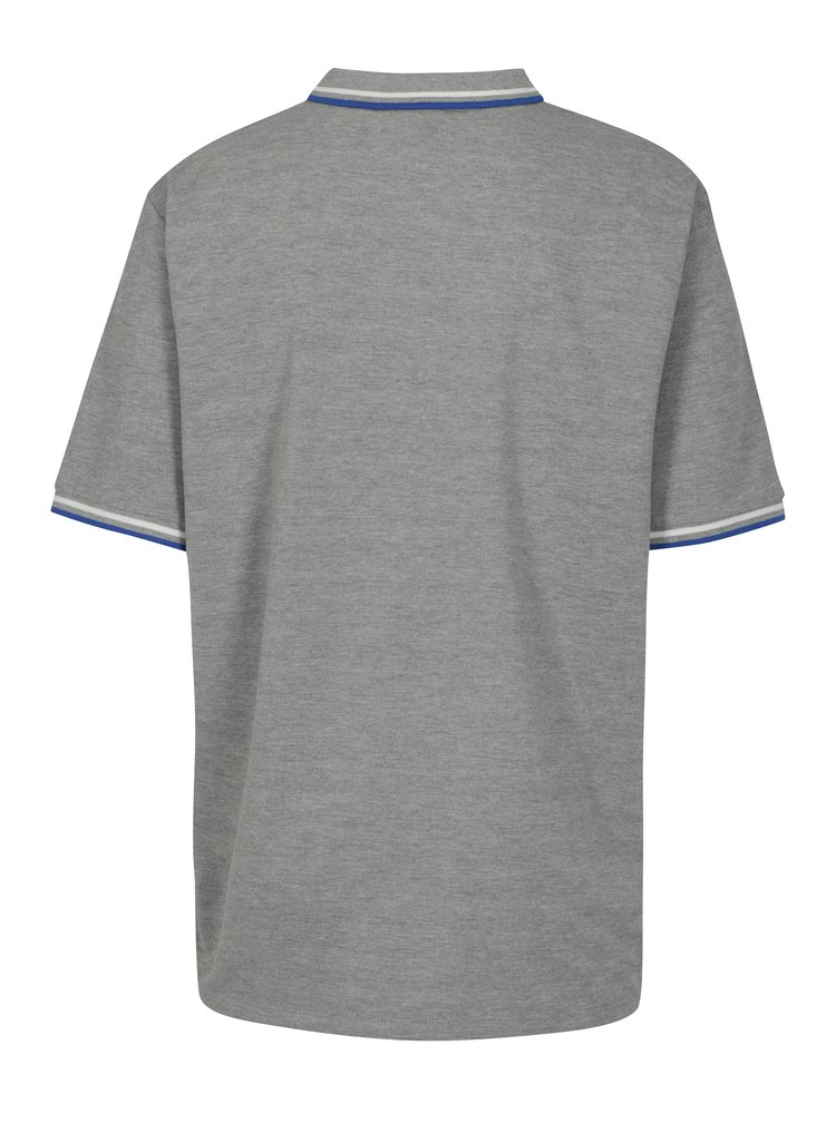 Šedé polo tričko s nášivkou Jack & Jones Pop