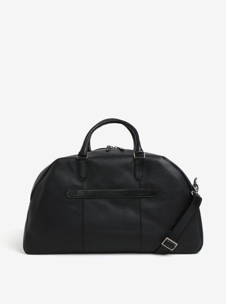 Černá pánská kožená cestovní taška Royal RepubliQ Omega
