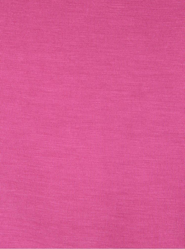 Bluza roz aprins cu maneci 3/4 Pietro Filipi