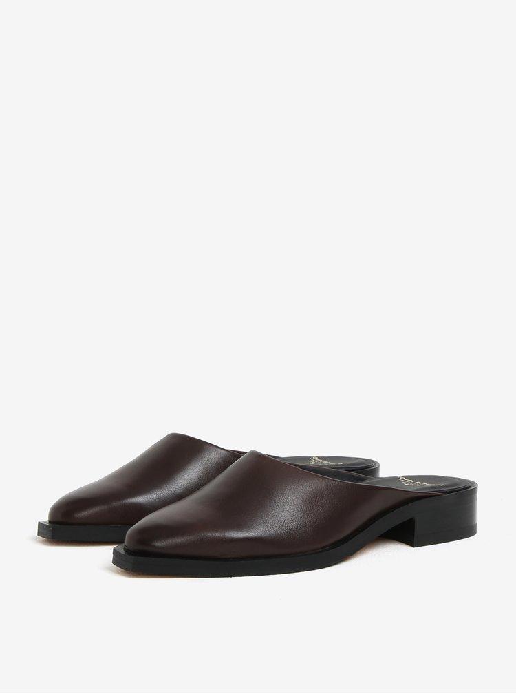 Hnědé dámské kožené pantofle Royal RepubliQ