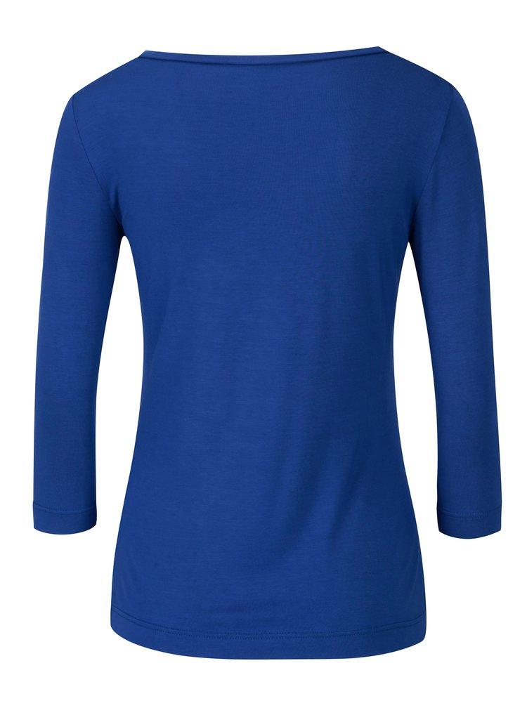Modré dámské tričko s 3/4 rukávem Pietro Filipi