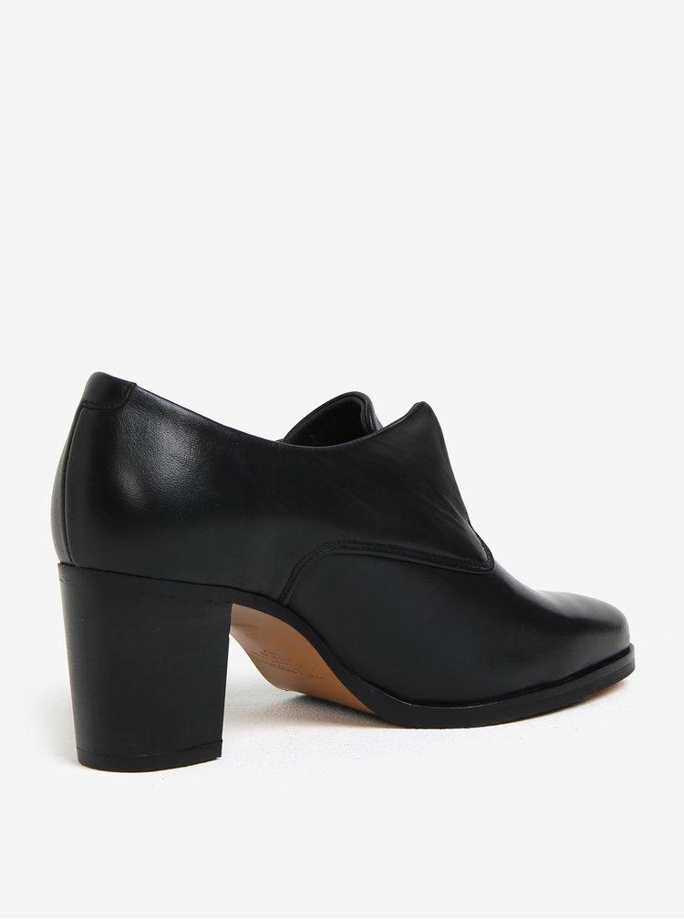 Pantofi negri din piele cu toc pentru femei -  Royal RepubliQ