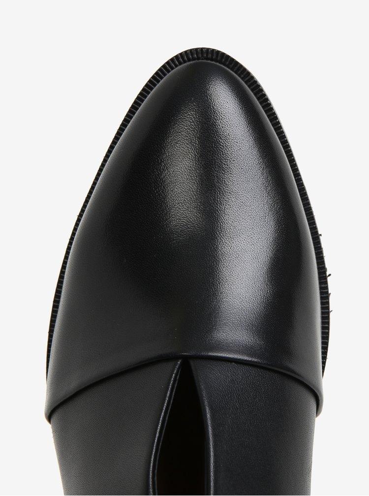 Černé dámské kožené polobotky s přezkou Royal RepubliQ