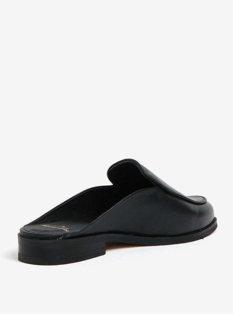 Černé dámské kožené pantofle Royal RepubliQ