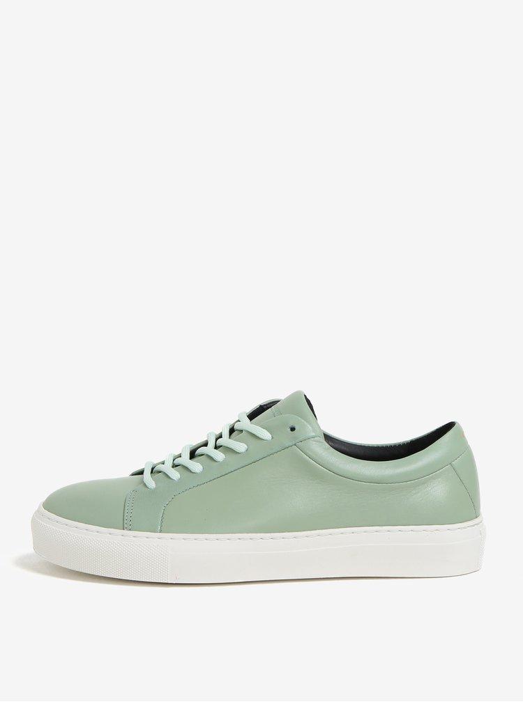 Světle zelené dámské kožené tenisky Royal RepubliQ