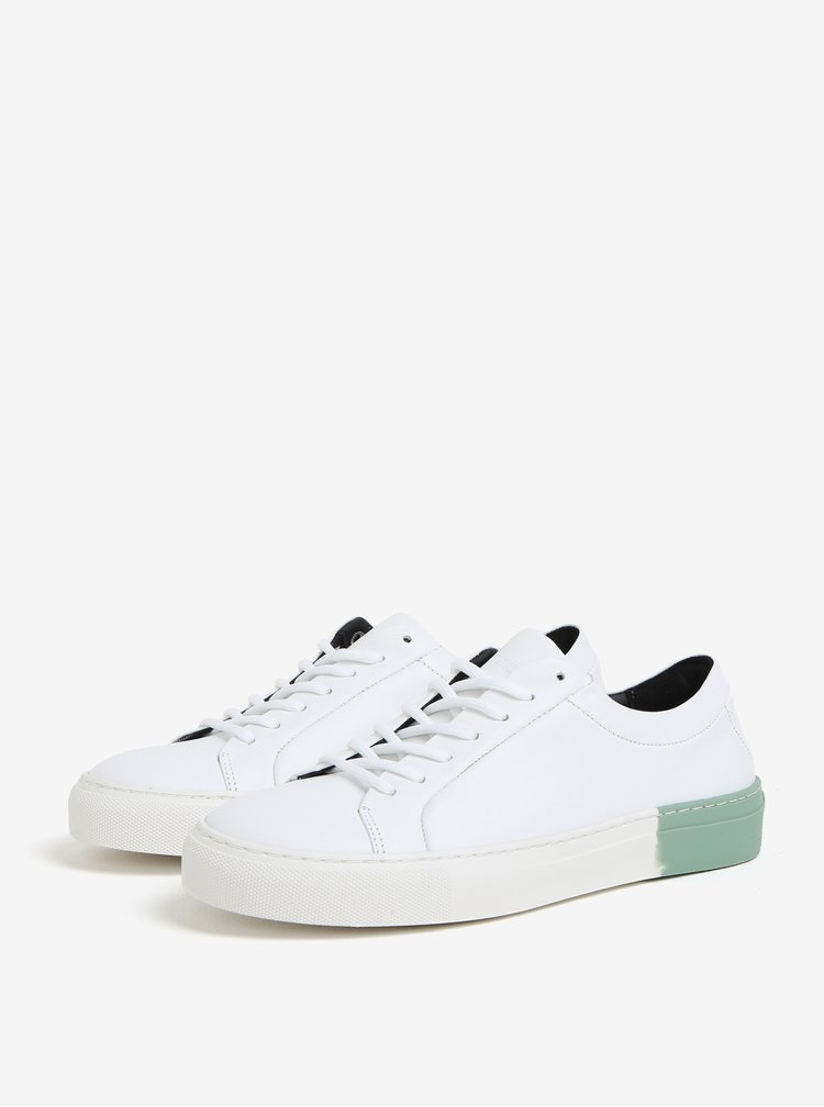 Zeleno-bílé dámské kožené tenisky Royal RepubliQ