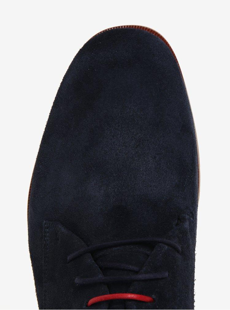 Tmavě modré pánské semišové polobotky Royal RepubliQ