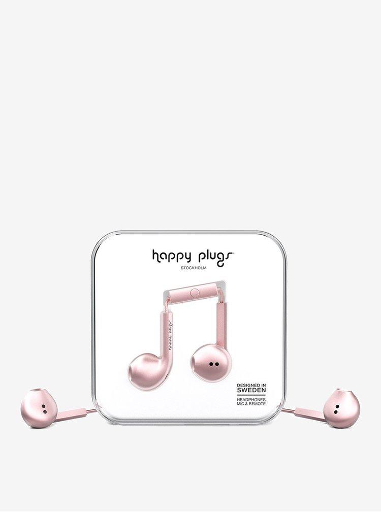 Světle růžová Earbud plus sluchátka Happy Plugs