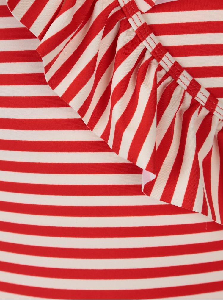 Krémovo-červené pruhované jednodílné plavky Y.A.S  Samui