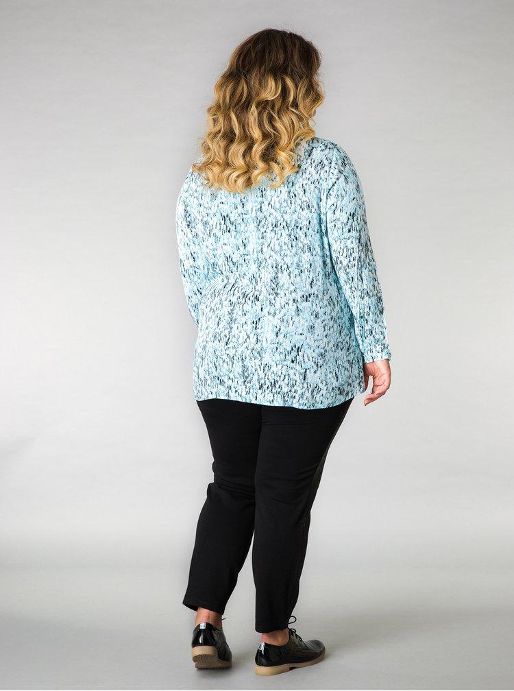 Modrá vzorovaná košile Yest