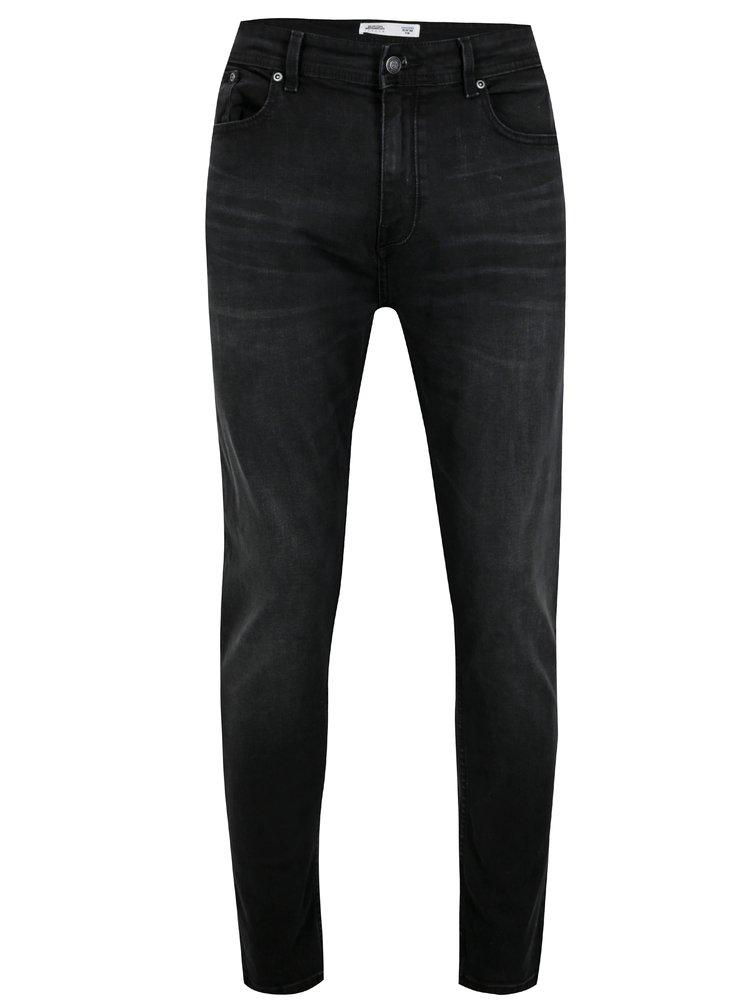 Tmavě šedé pánské džíny Burton Menswear London