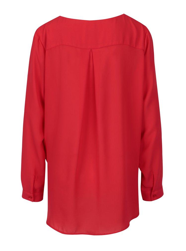 Červená halenka s dlouhým rukávem VILA Lucy