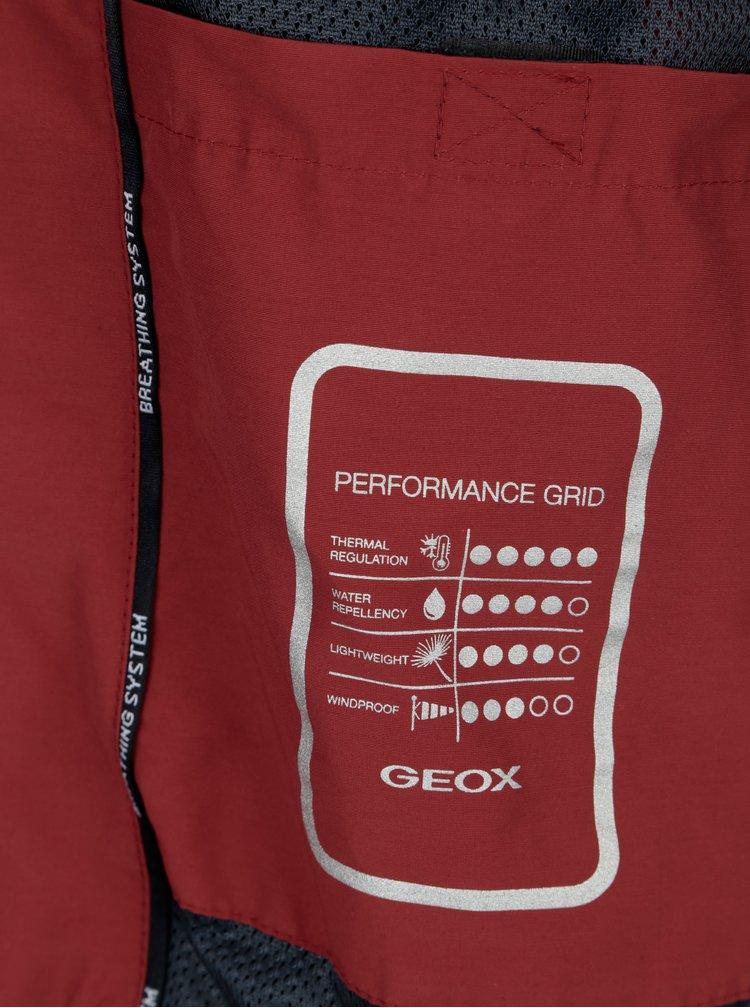 Cihlová pánská bunda Geox