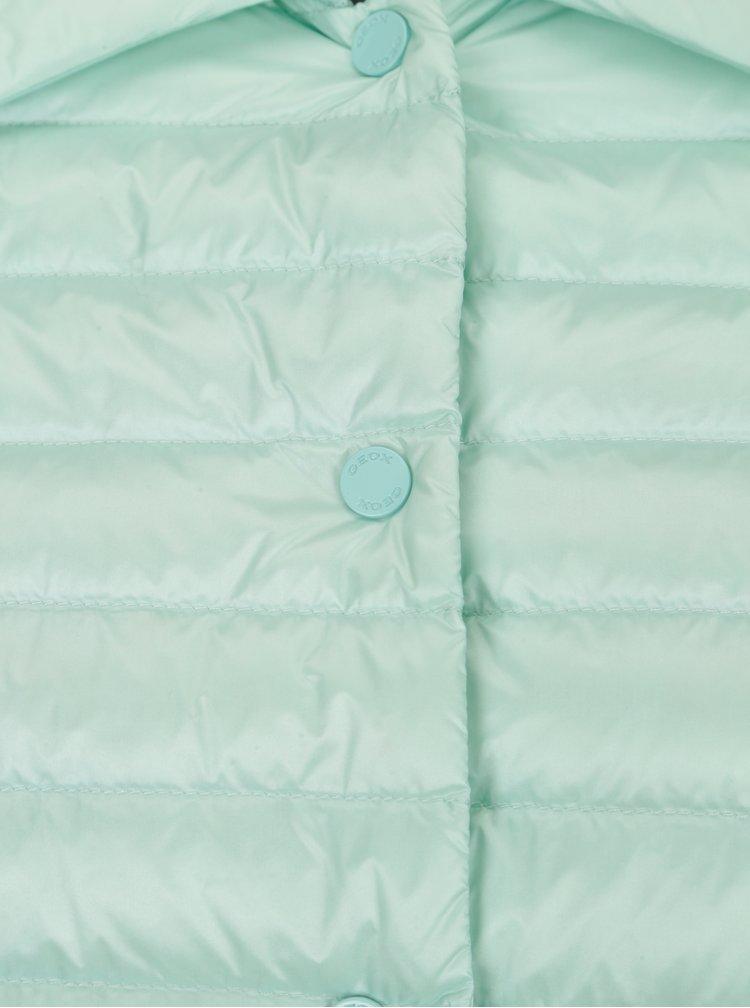 Geaca matlasata verde mentol impermeabila pentru femei Geox
