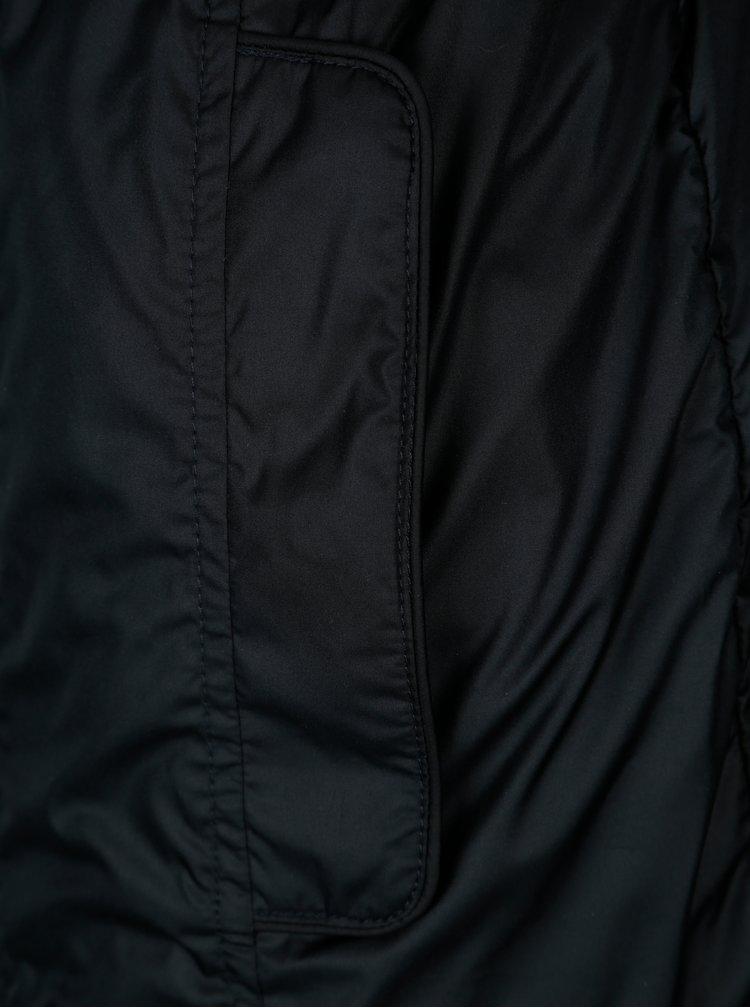 Tmavě modrá dámská lehká bunda s páskem Geox