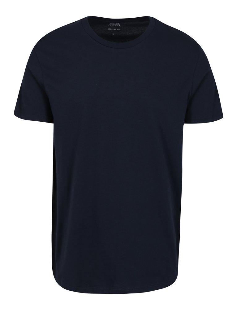 Tmavě modré pánské regular fit tričko Burton Menswear London