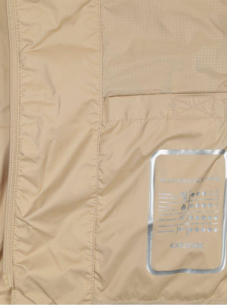 Béžová dámská lehká bunda s páskem Geox