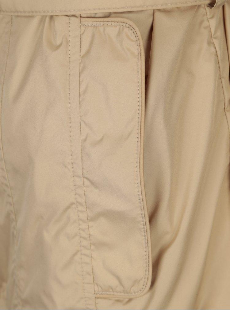 Jacheta impermeabila bej cu cordon pentru femei Geox