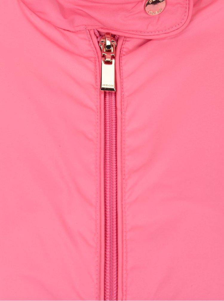 Růžová dámská lehká bunda Geox