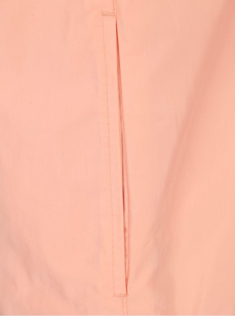 Meruňková dámská lehká bunda s kapucí a 3/4 rukávem Geox