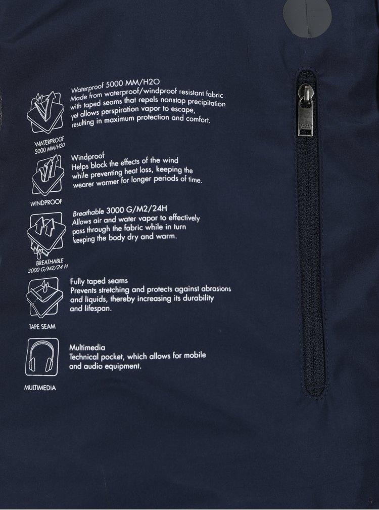 Tmavě modrý funkční nepromokavý kabát Selected Homme Take Tech