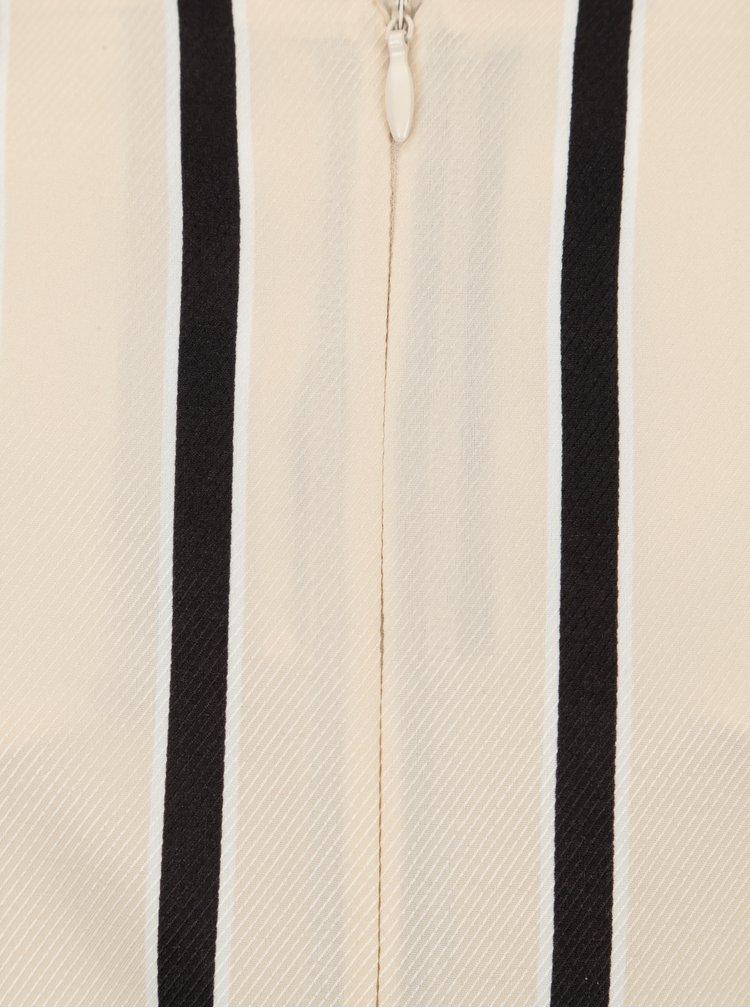 Černo-béžové pruhované těhotenské šaty Mama.licious Shanne