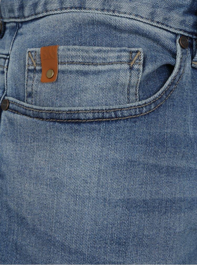 Blugi regular fit albastri cu aspect prespalat pentru barbati -  s.Oliver
