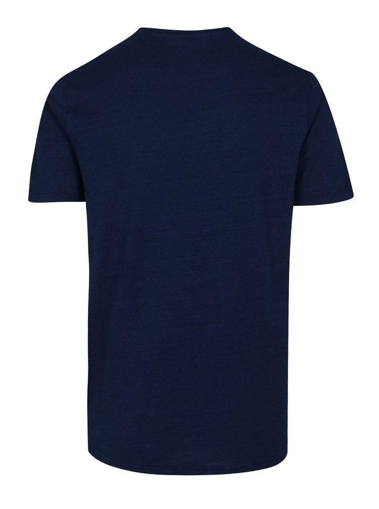Tmavě modré tričko s potiskem ONLY & SONS Sanford