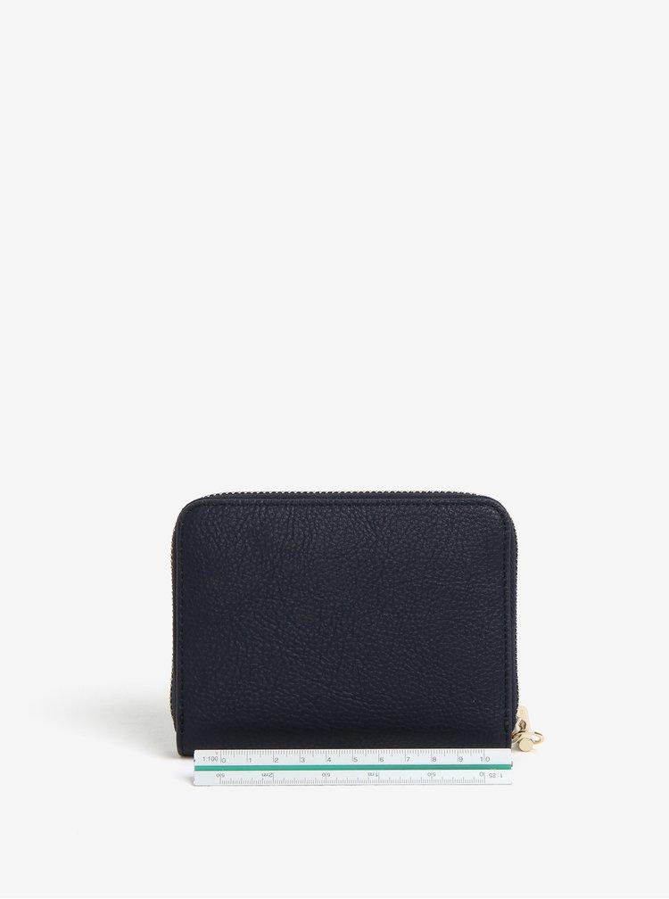 Tmavě modrá dámská koženková peněženka na zip Tommy Hilfiger