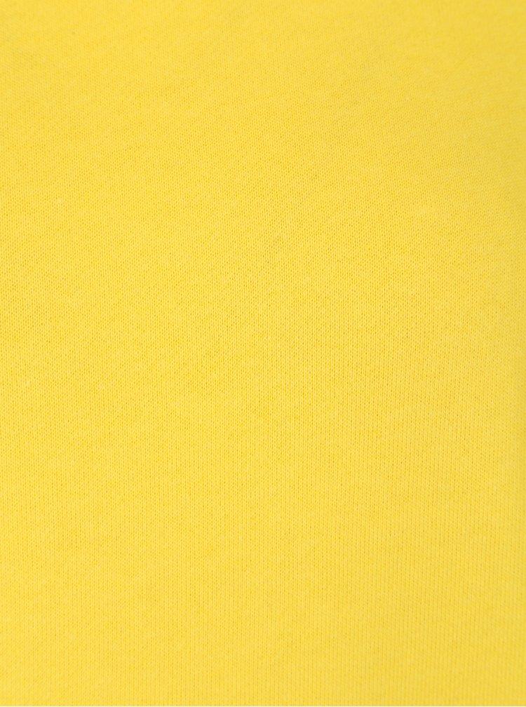 Žlutá mikina s řasením na rukávech Jacqueline de Yong Alpha