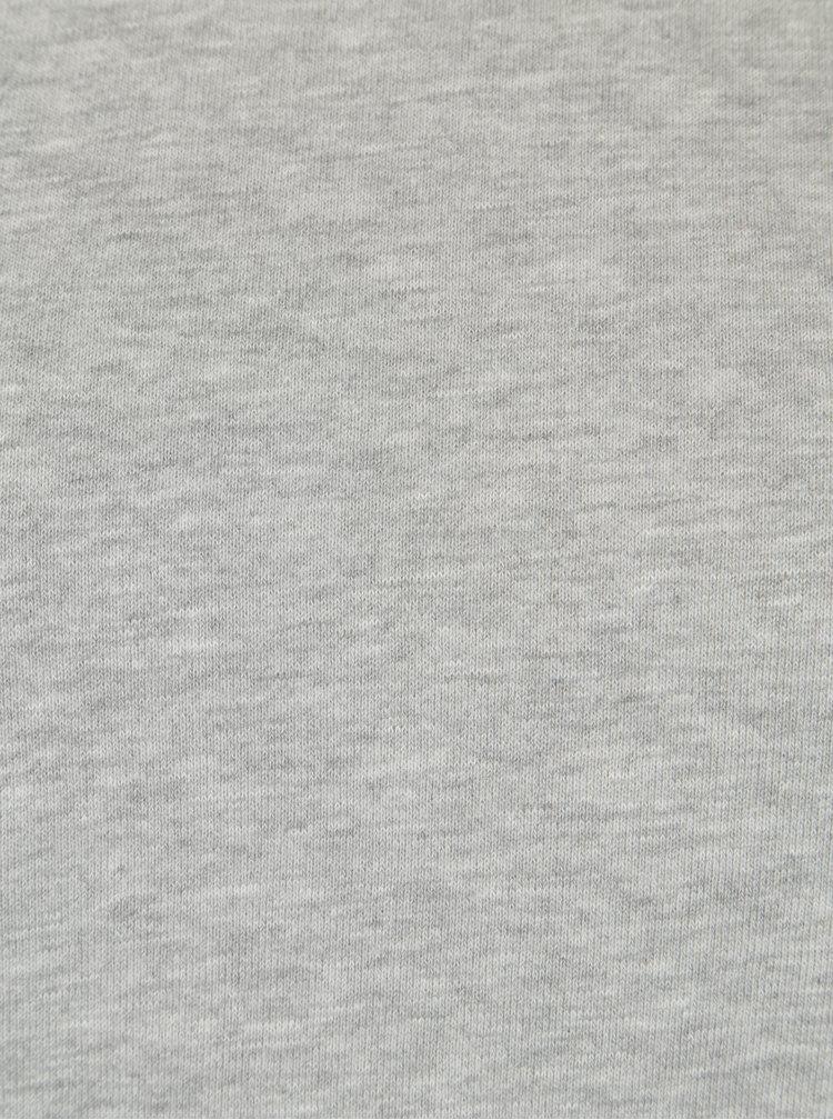 Bluza gri melanj cu snur pentru ajustarea manecilor Jacqueline de Yong Alpha