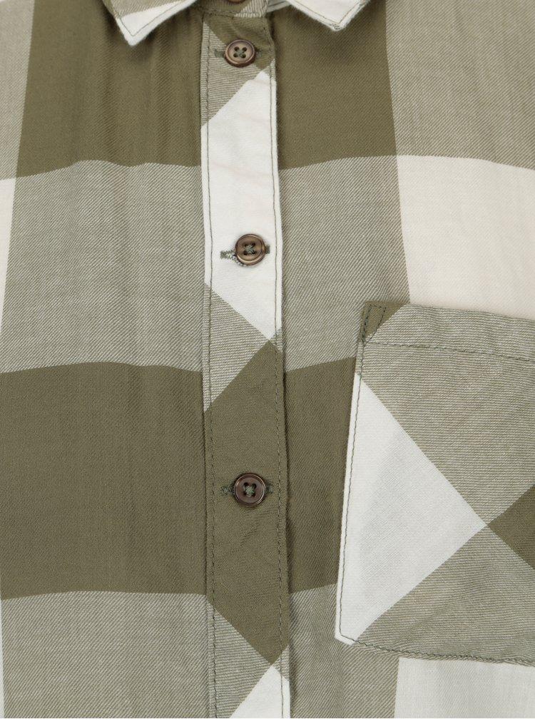 Krémovo-zelená kostkovaná košile Jacqueline de Yong Phoebe