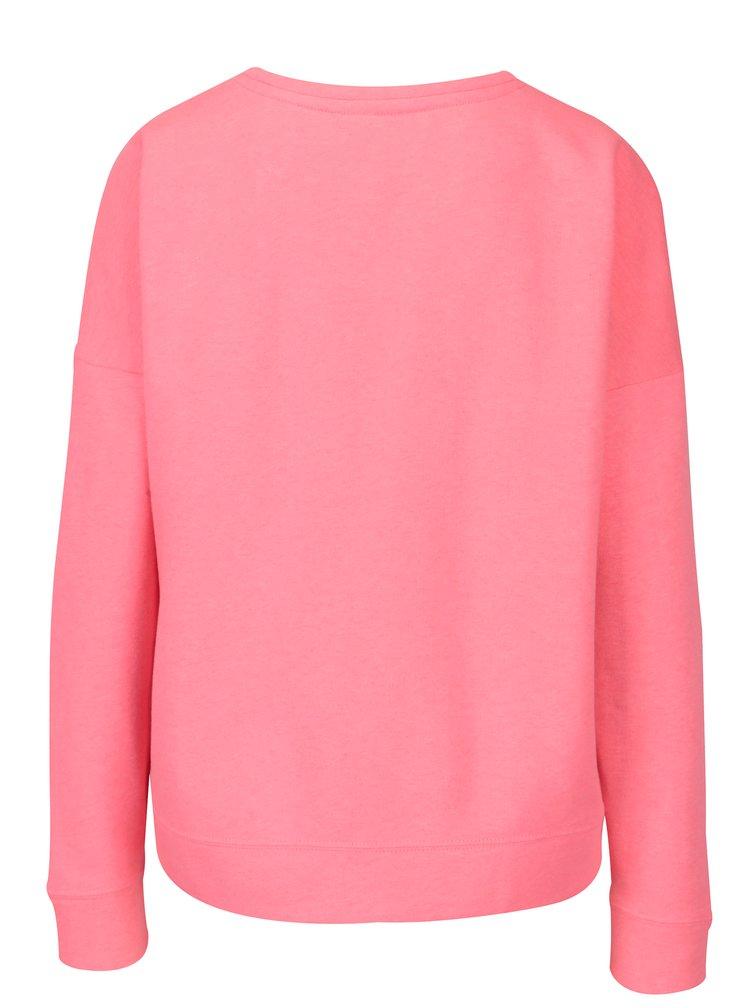Bluza roz neon cu broderie ONLY Janni