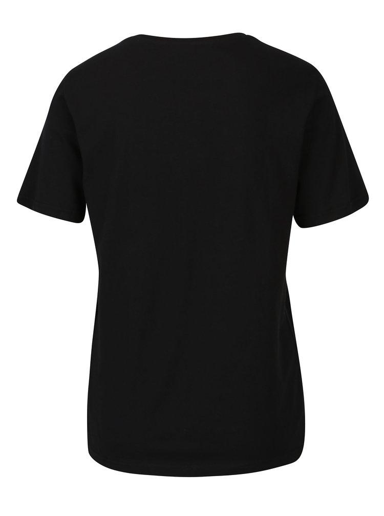 Černé tričko s potiskem ONLY Rolling Stones
