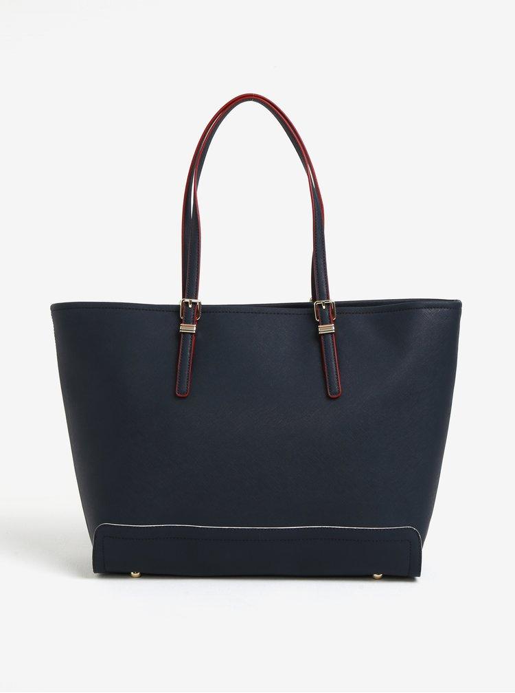 Tmavě modrá velká kabelka Tommy Hilfiger