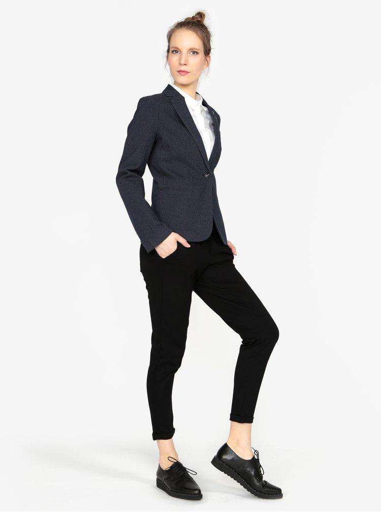 Tmavě modré dámské puntíkované sako s.Oliver