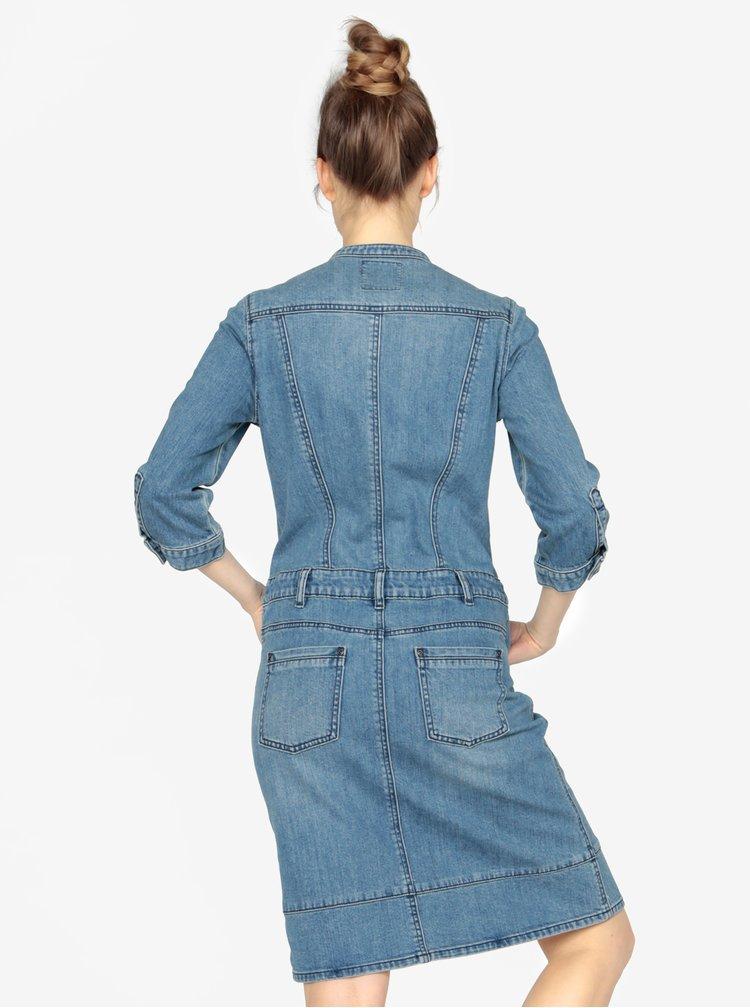 Modré džínové šaty s 3/4 rukávem s.Oliver