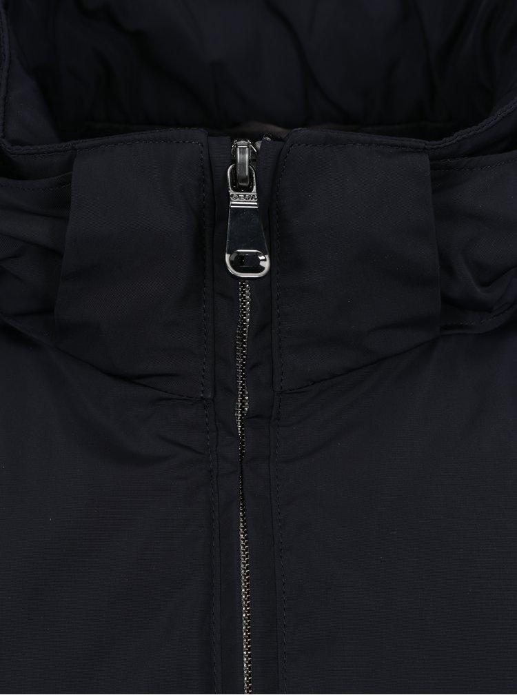 Tmavě modrá funkční pánská bunda Geox