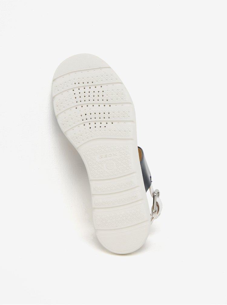 Krémovo-modré pruhované sandály na platformě Geox Amalitha