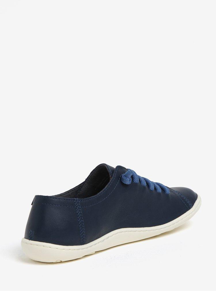 Modré dámské kožené tenisky Camper Peu